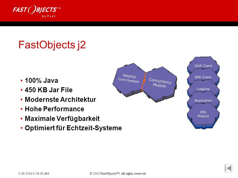FastObjects j2 100% Java 450 KB Jar File Modernste Architektur