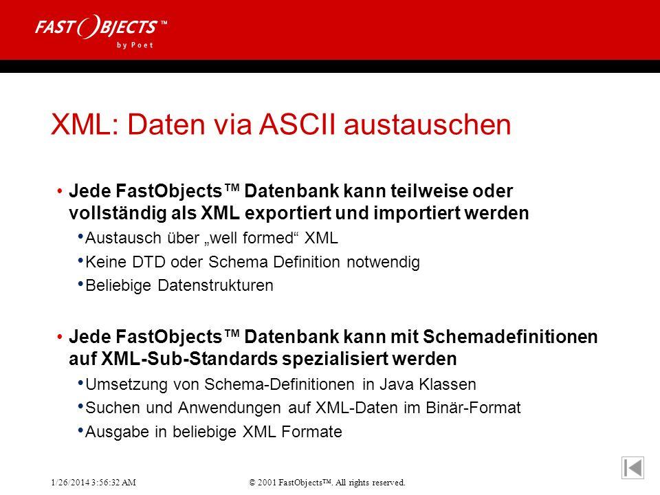 XML: Daten via ASCII austauschen