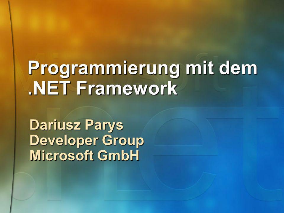 Programmierung mit dem .NET Framework