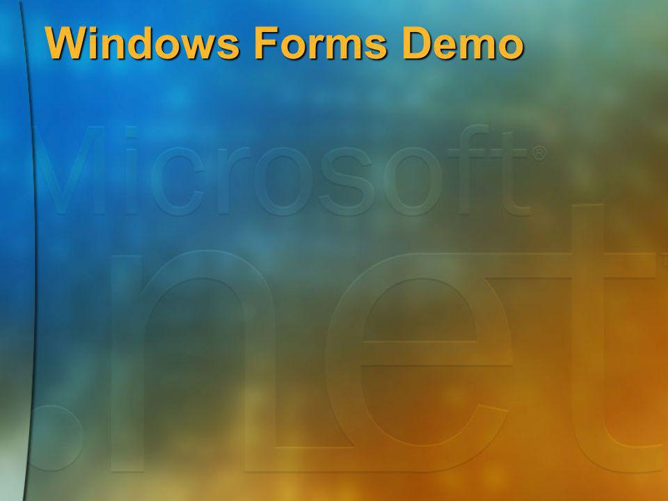 Windows Forms Demo