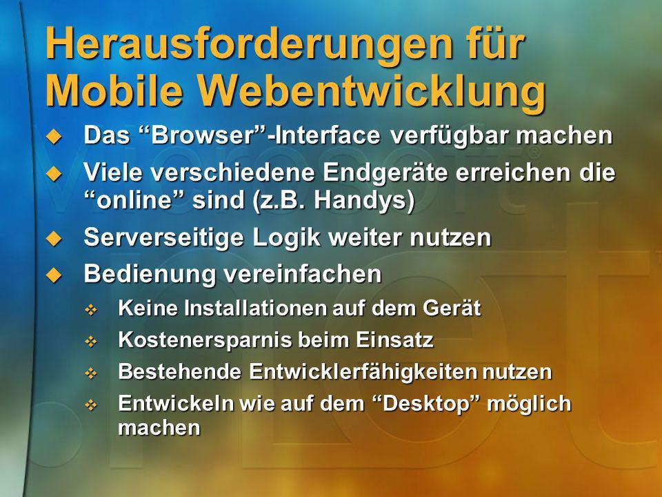 Herausforderungen für Mobile Webentwicklung