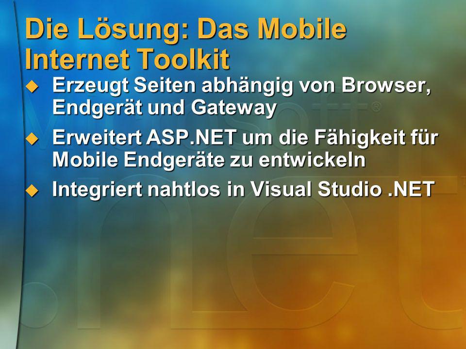 Die Lösung: Das Mobile Internet Toolkit