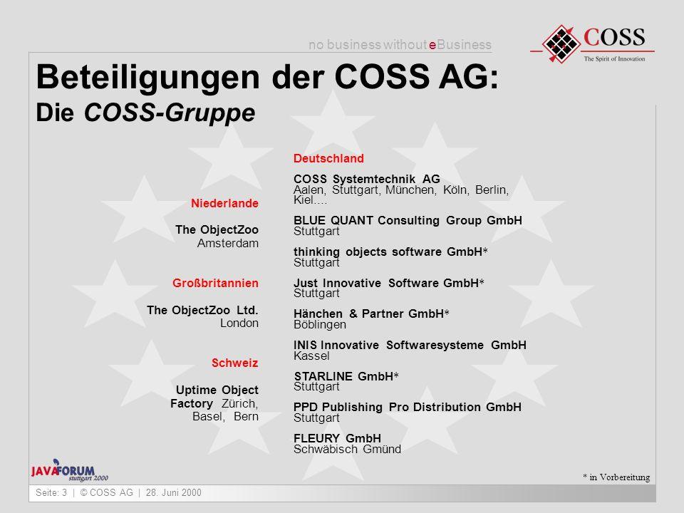 Beteiligungen der COSS AG: Die COSS-Gruppe