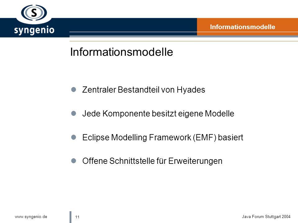 Informationsmodelle Zentraler Bestandteil von Hyades