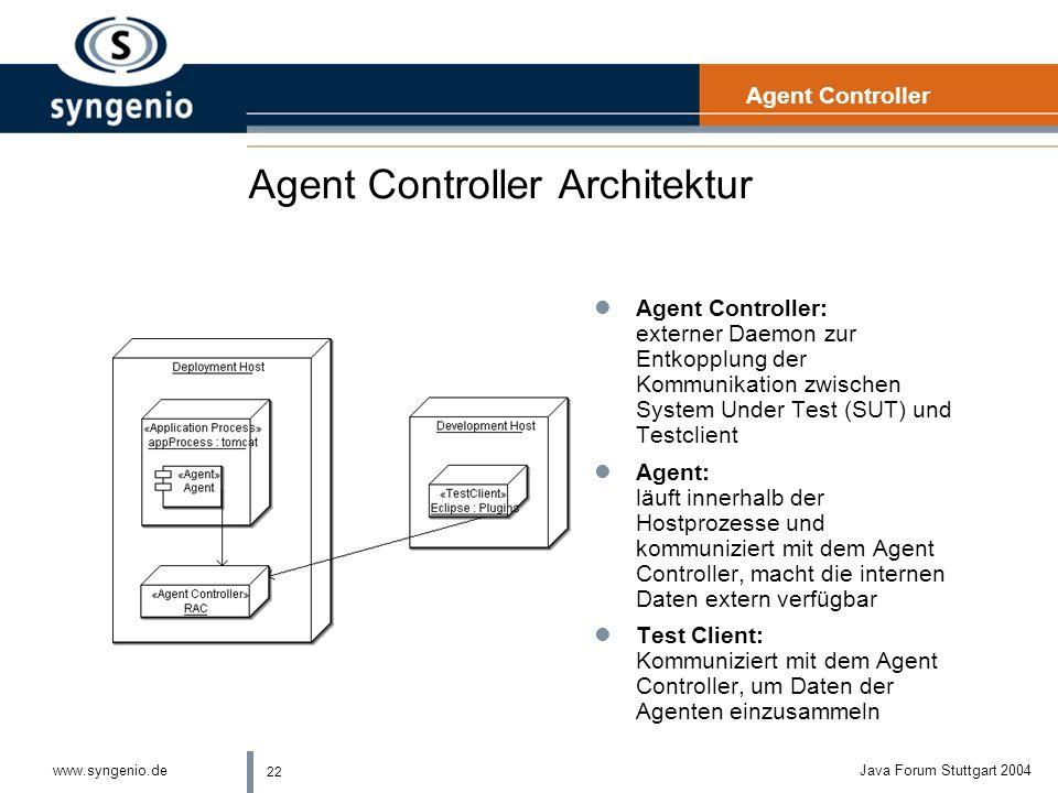 Agent Controller Architektur