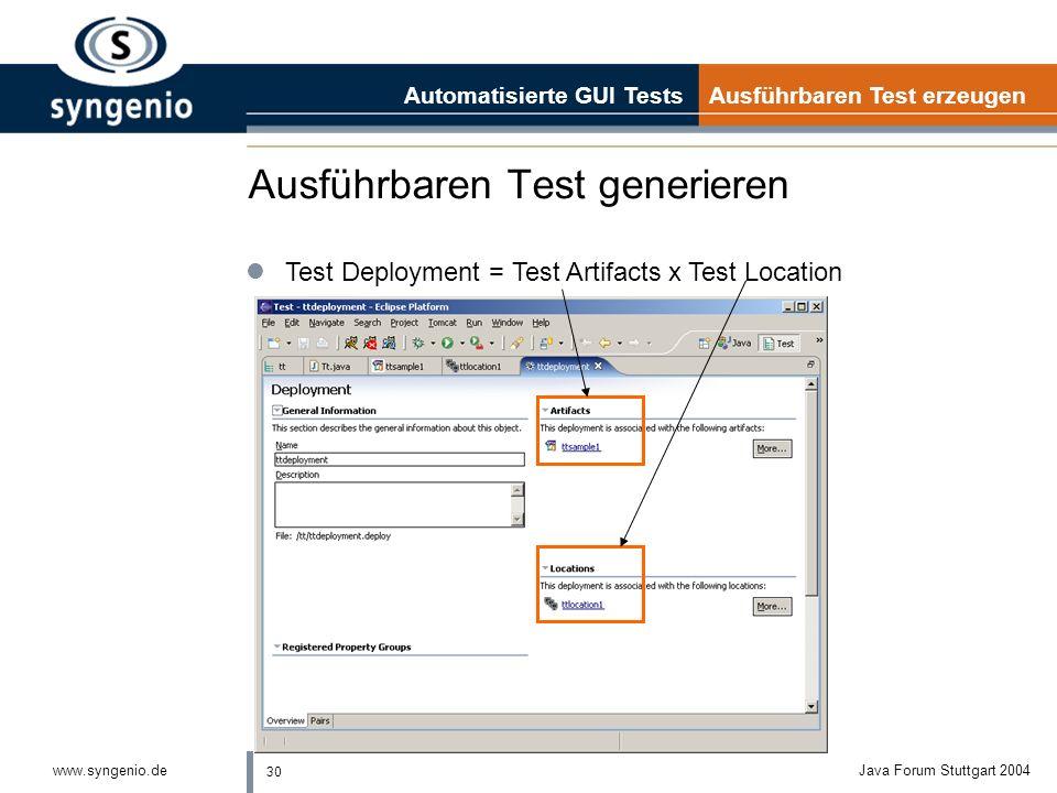 Ausführbaren Test generieren