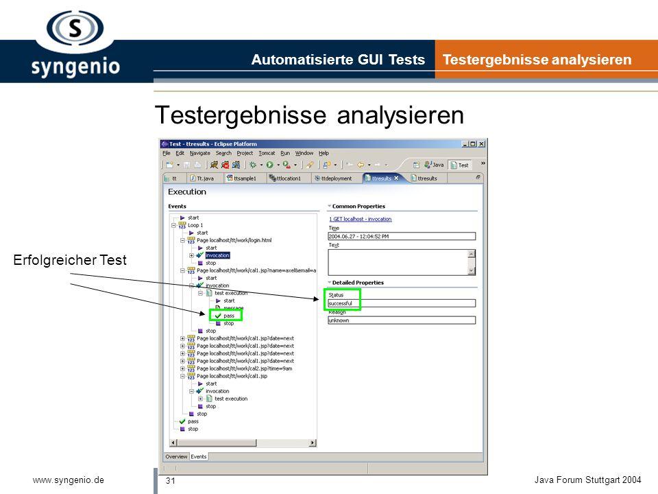 Testergebnisse analysieren