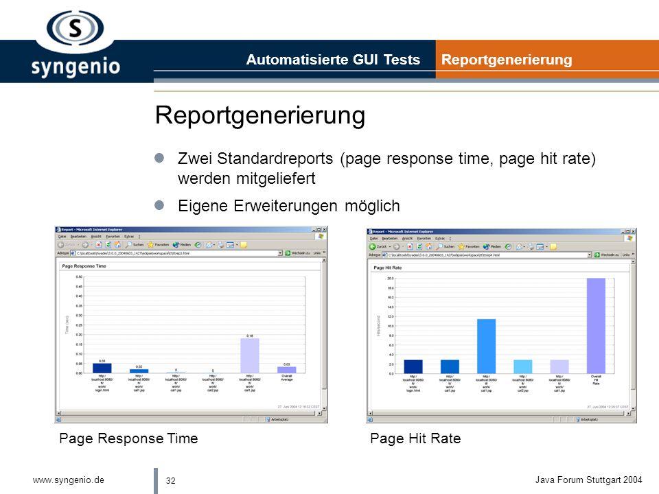 Automatisierte GUI Tests Reportgenerierung