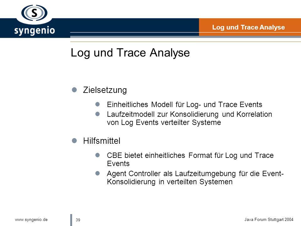 Log und Trace Analyse Zielsetzung Hilfsmittel