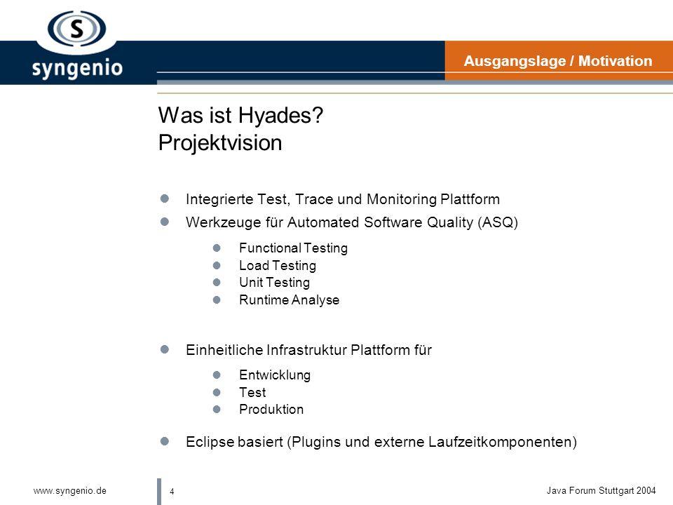 Was ist Hyades Projektvision