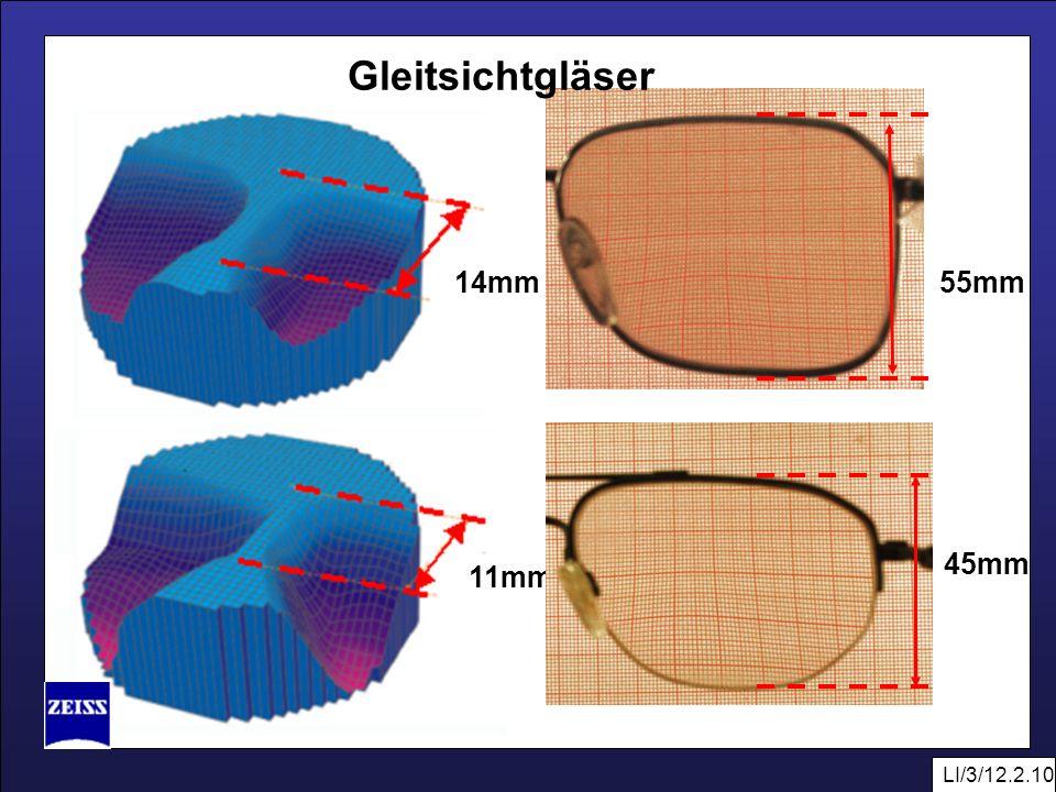 Gleitsichtgläser 14mm 55mm 45mm 11mm LI/3/12.2.10