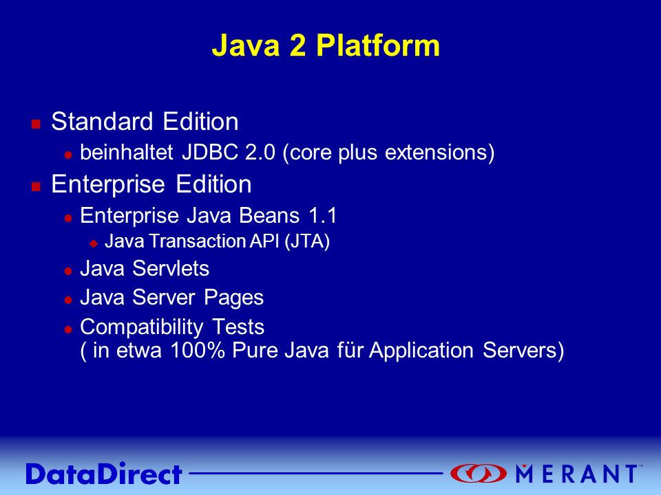 Java 2 Platform Standard Edition Enterprise Edition