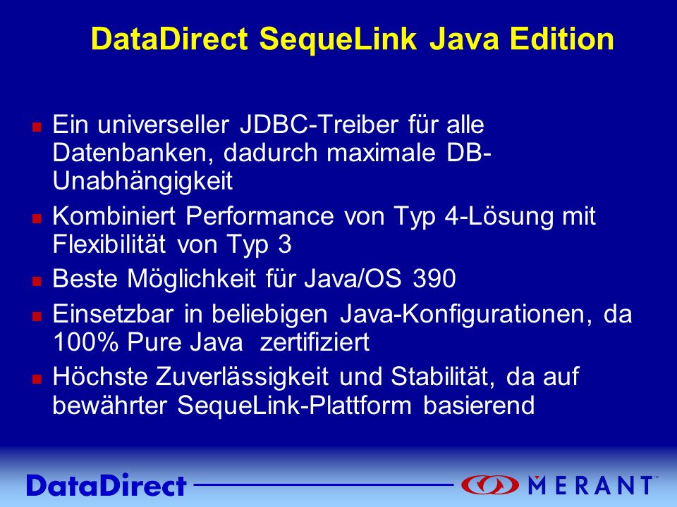 DataDirect SequeLink Java Edition