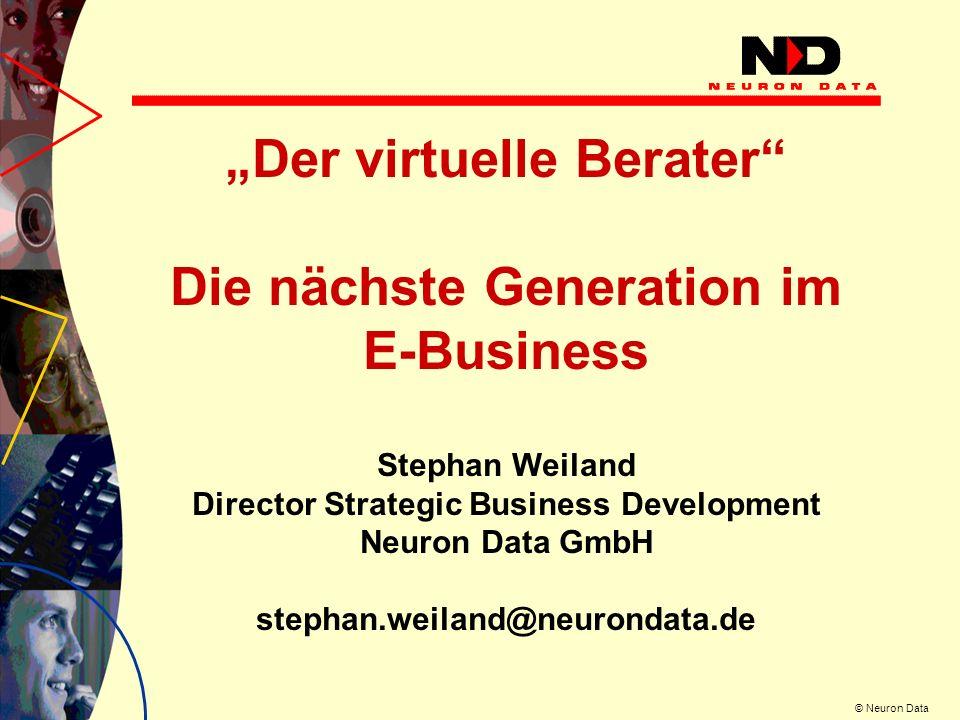 """""""Der virtuelle Berater Die nächste Generation im E-Business"""