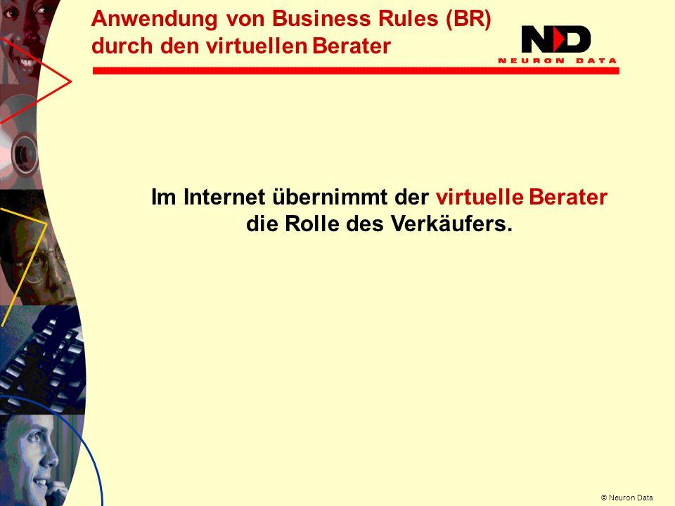Im Internet übernimmt der virtuelle Berater die Rolle des Verkäufers.