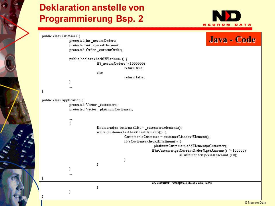 Deklaration anstelle von Programmierung Bsp. 2