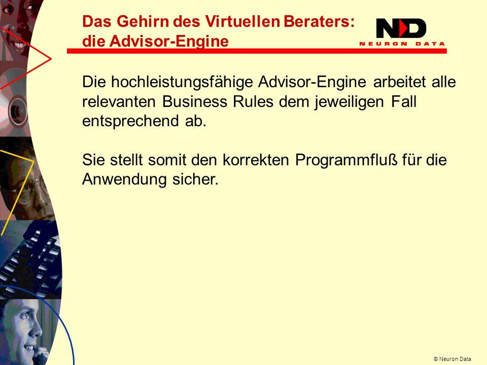 Das Gehirn des Virtuellen Beraters: die Advisor-Engine