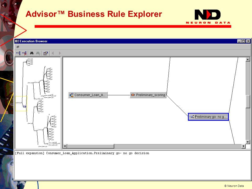 Advisor™ Business Rule Explorer
