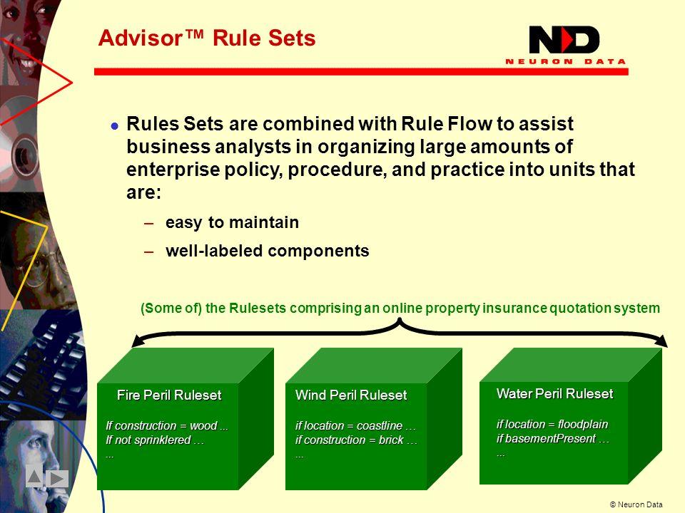 Advisor™ Rule Sets