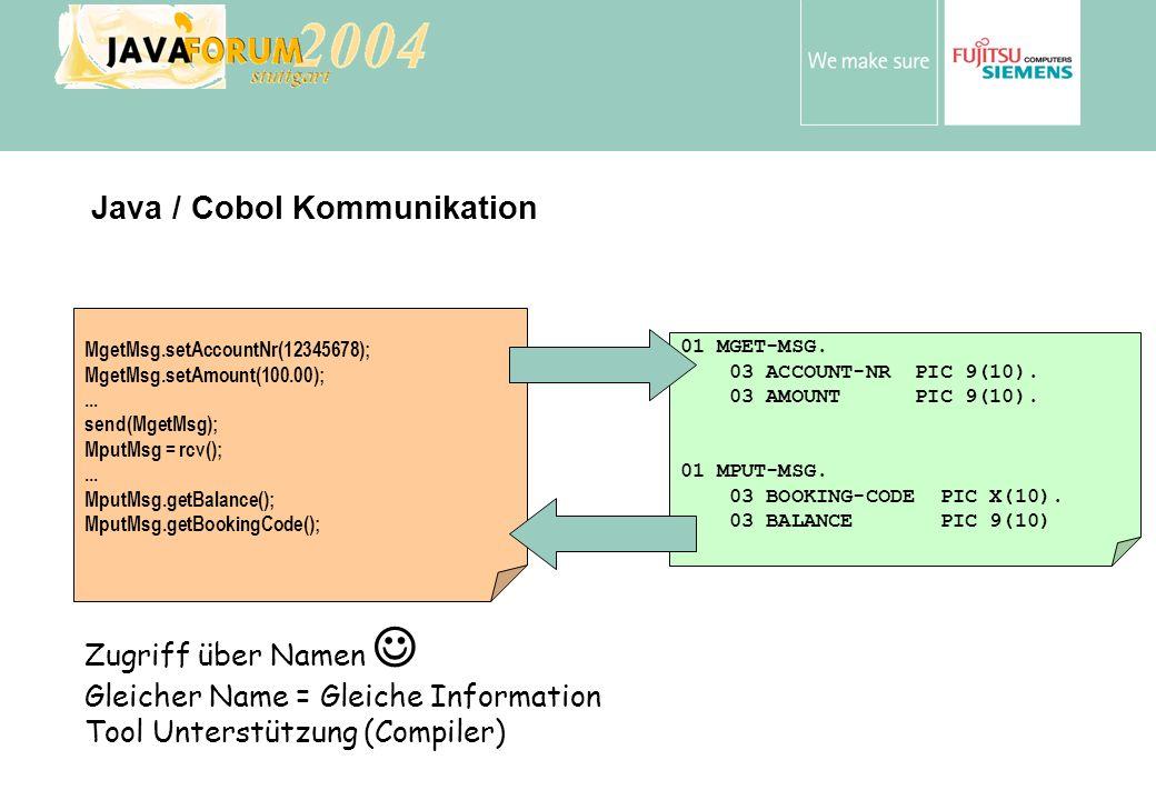 Java / Cobol Kommunikation