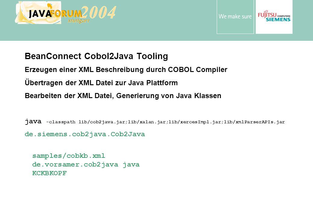 BeanConnect Cobol2Java Tooling