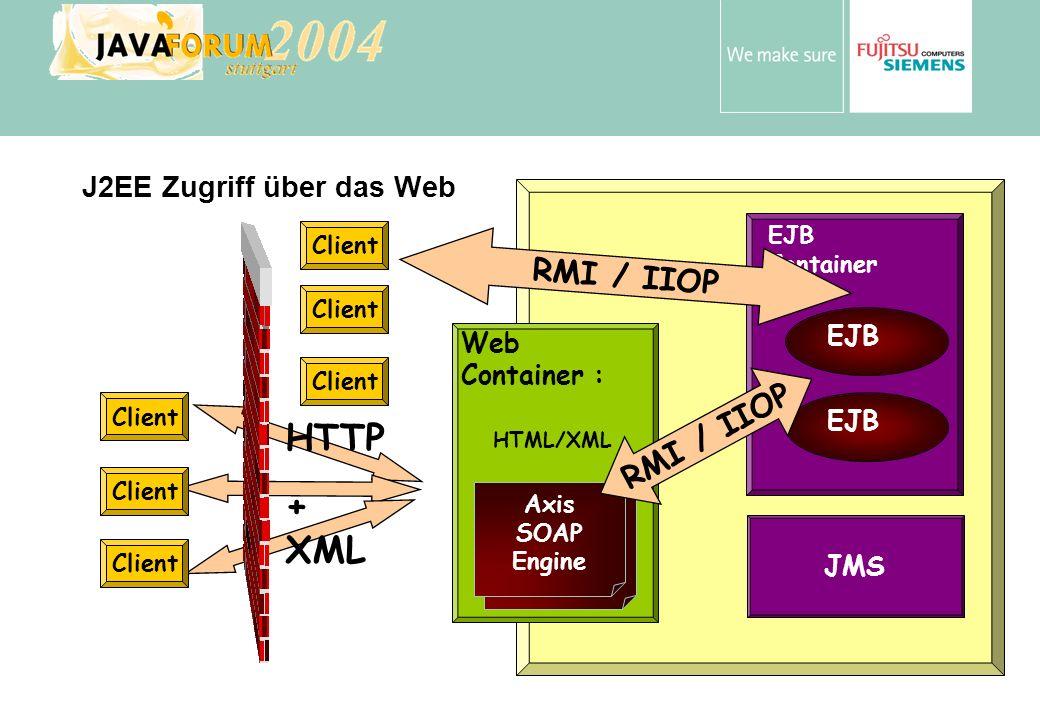 J2EE Zugriff über das Web