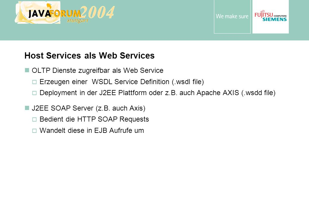 Host Services als Web Services