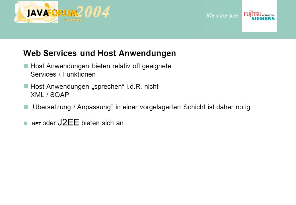 Web Services und Host Anwendungen