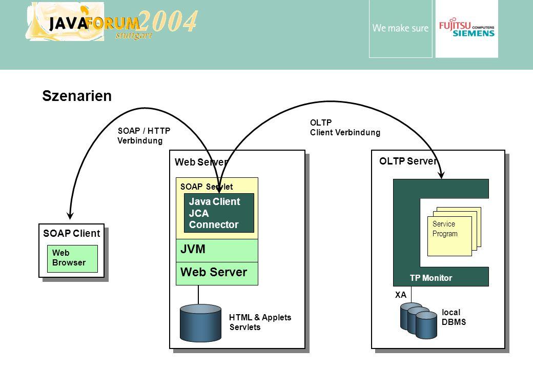 Szenarien JVM Web Server Web Server OLTP Server