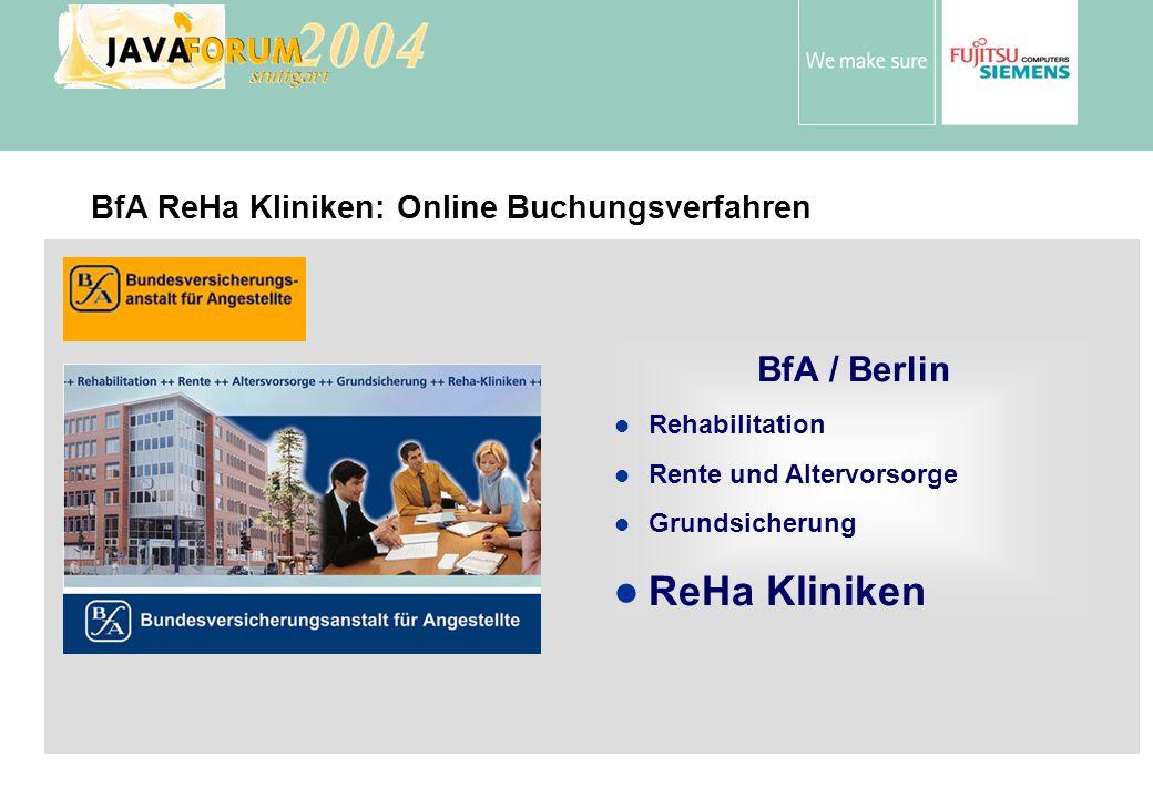 BfA ReHa Kliniken: Online Buchungsverfahren