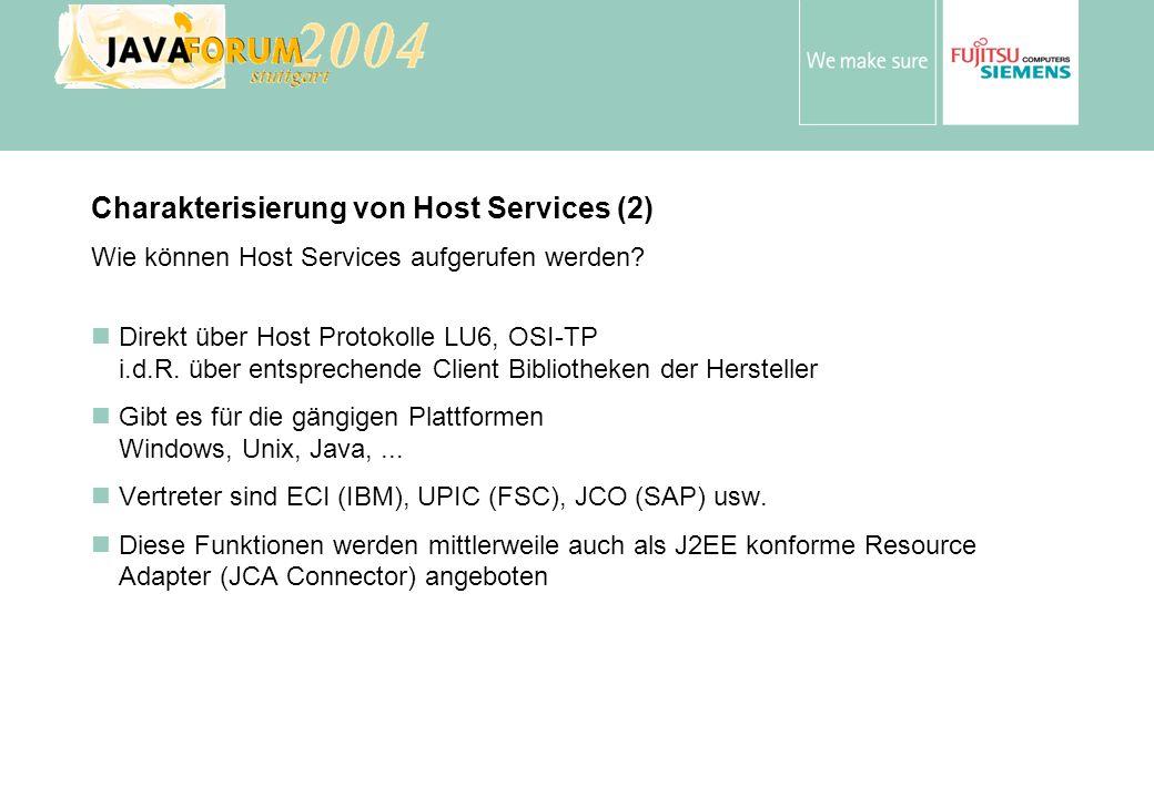 Charakterisierung von Host Services (2)