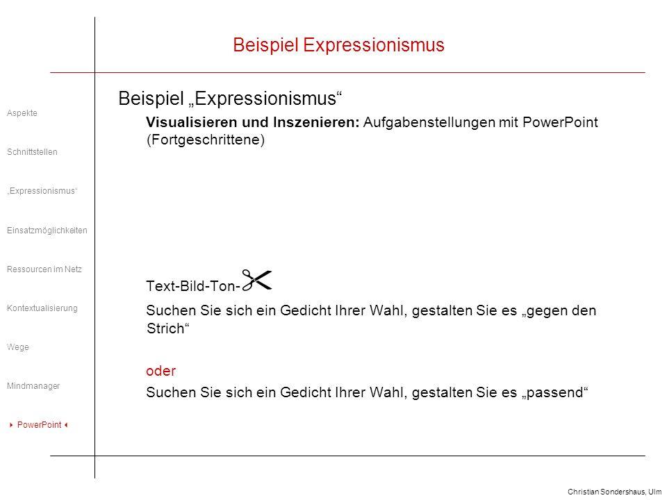 Beispiel Expressionismus