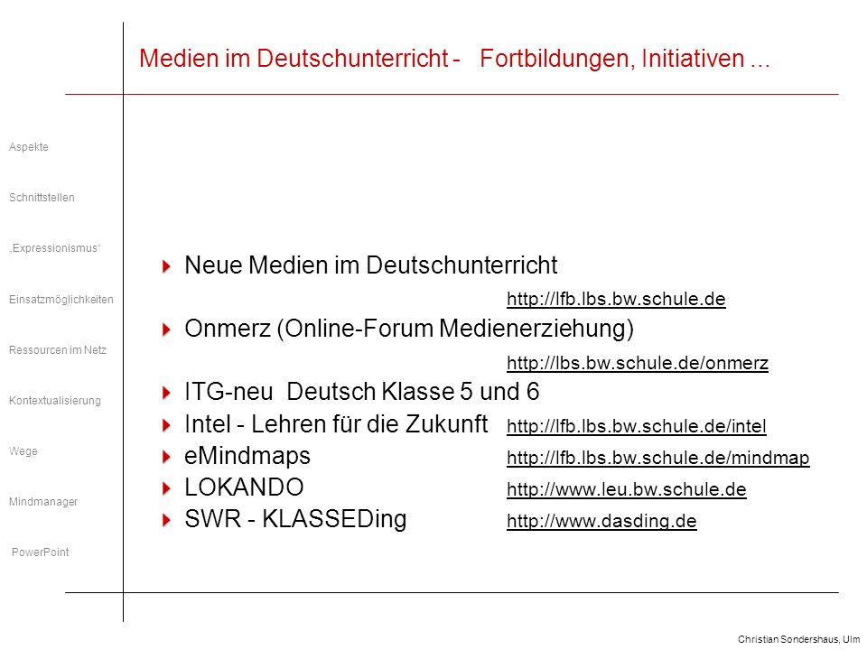 Medien im Deutschunterricht - Fortbildungen, Initiativen ...