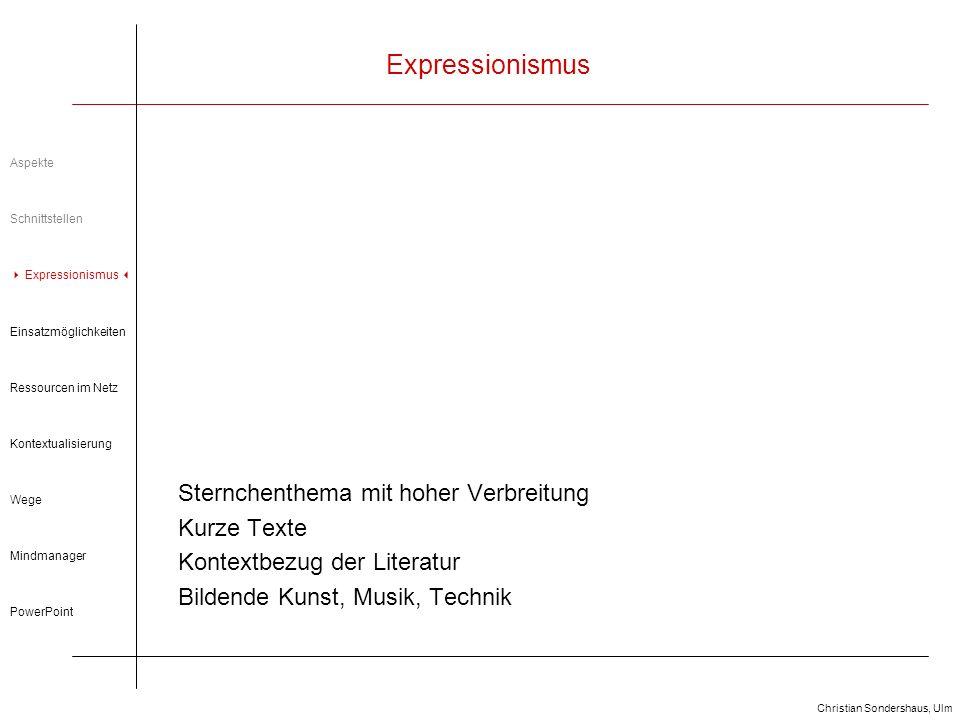 Expressionismus Sternchenthema mit hoher Verbreitung Kurze Texte