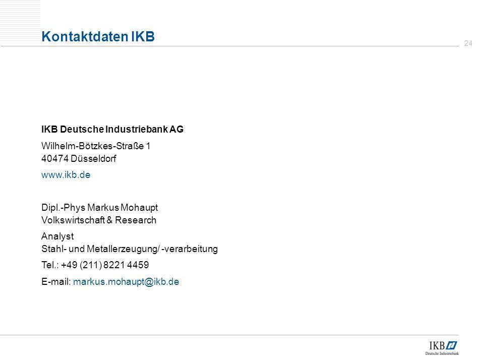 Kontaktdaten IKB IKB Deutsche Industriebank AG