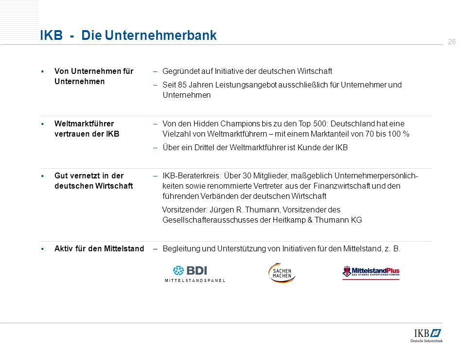 IKB - Die Unternehmerbank