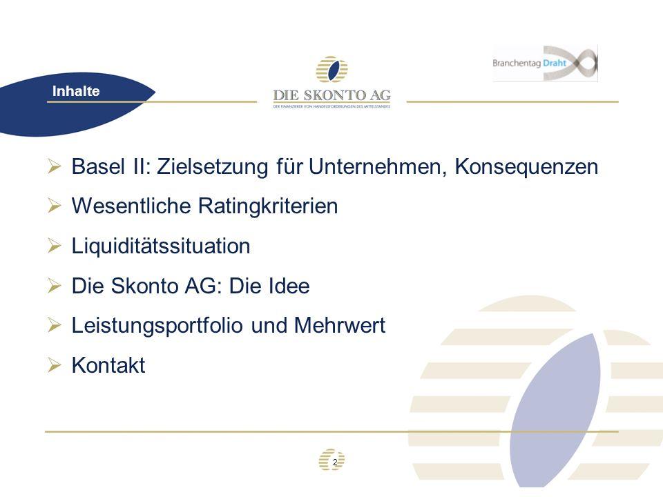 Basel II: Zielsetzung für Unternehmen, Konsequenzen