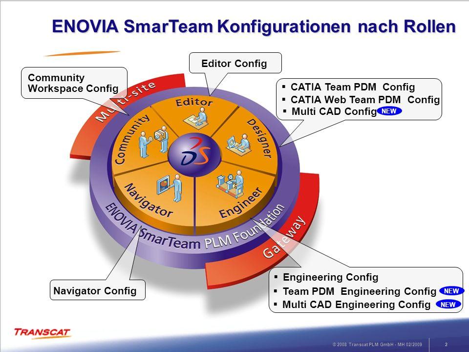 ENOVIA SmarTeam Konfigurationen nach Rollen