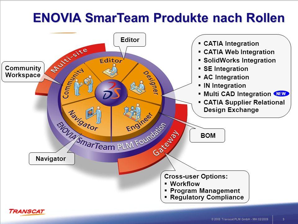 ENOVIA SmarTeam Produkte nach Rollen