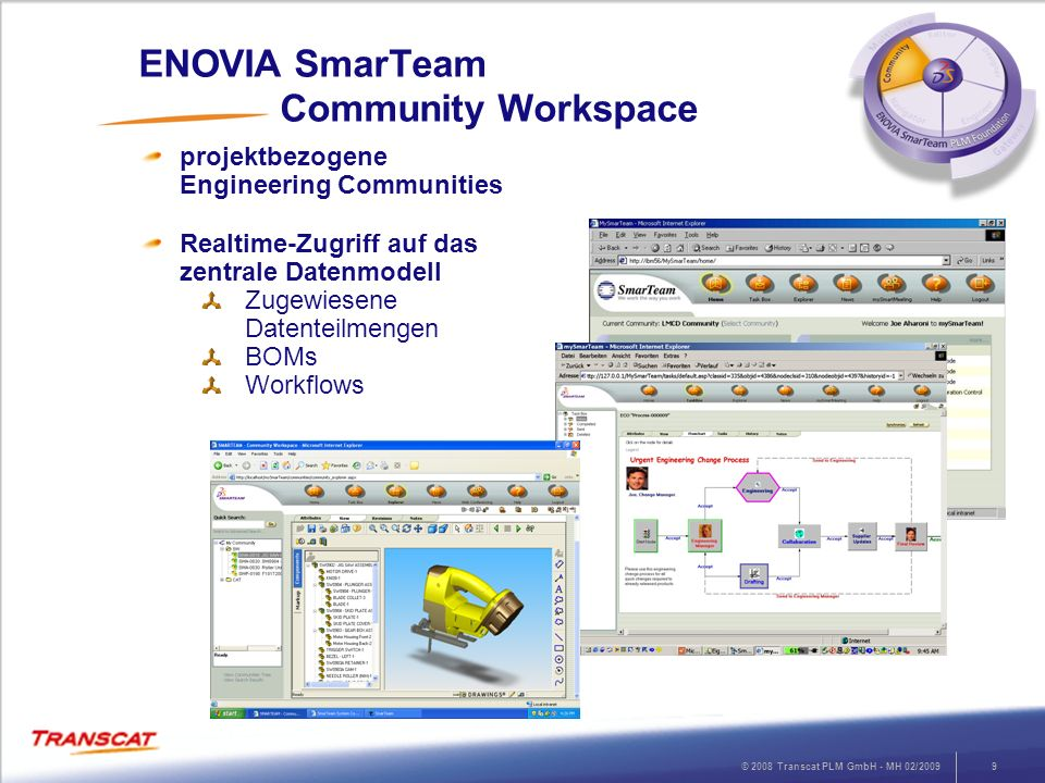 ENOVIA SmarTeam Community Workspace
