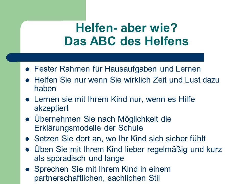 Helfen- aber wie Das ABC des Helfens