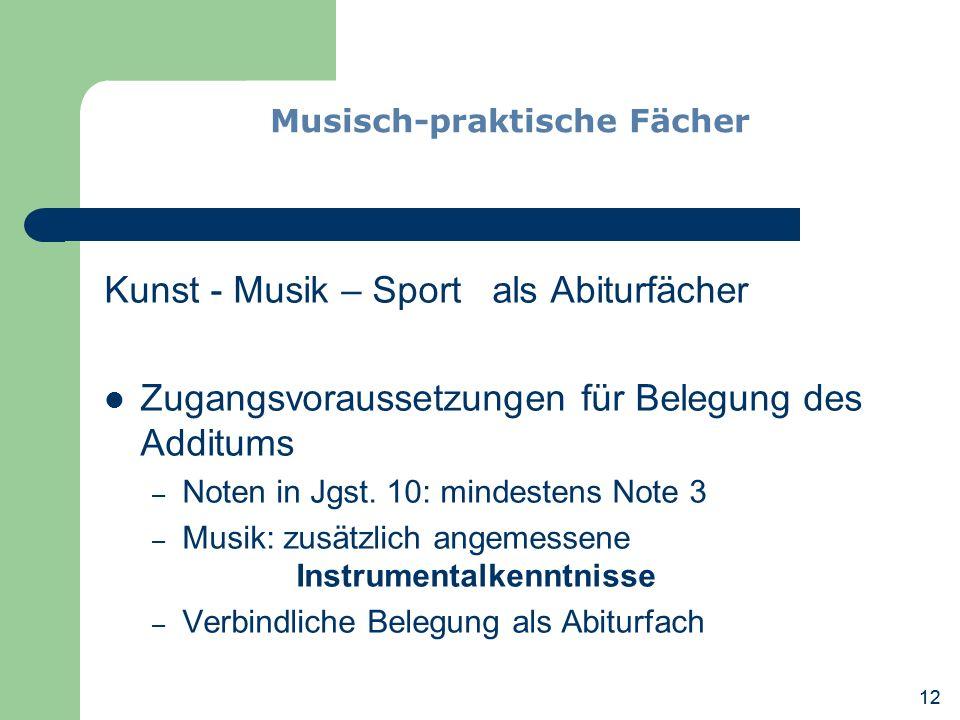 Musisch-praktische Fächer