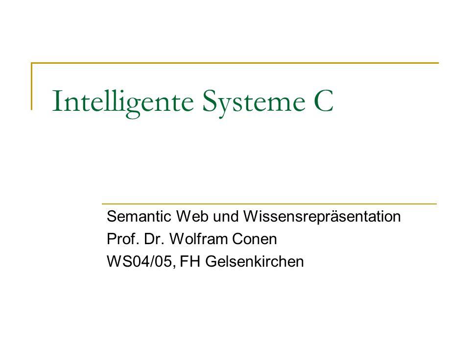 Intelligente Systeme C