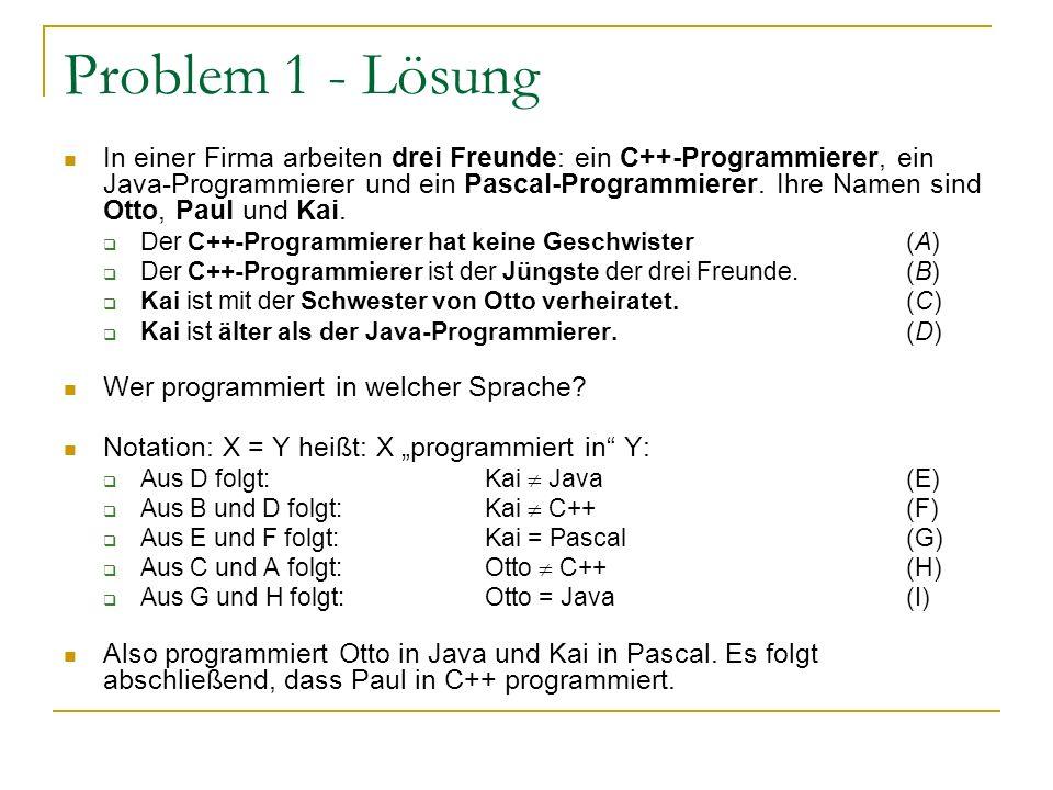 Problem 1 - Lösung