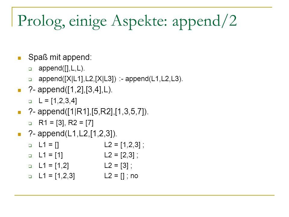 Prolog, einige Aspekte: append/2