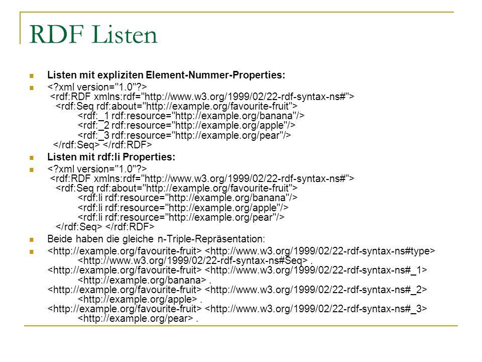 RDF Listen Listen mit expliziten Element-Nummer-Properties: