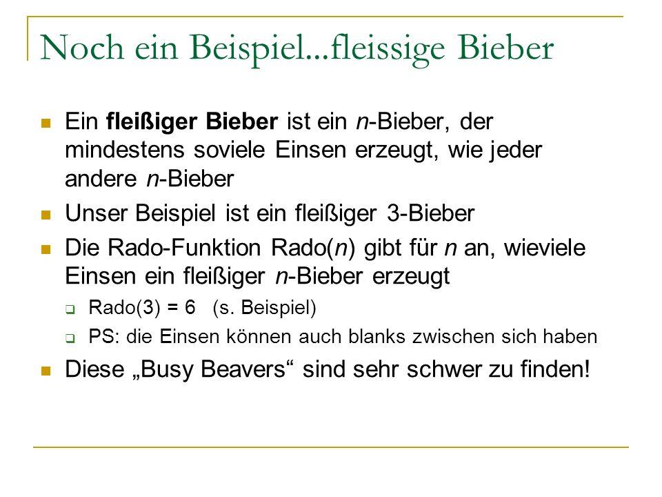 Noch ein Beispiel...fleissige Bieber