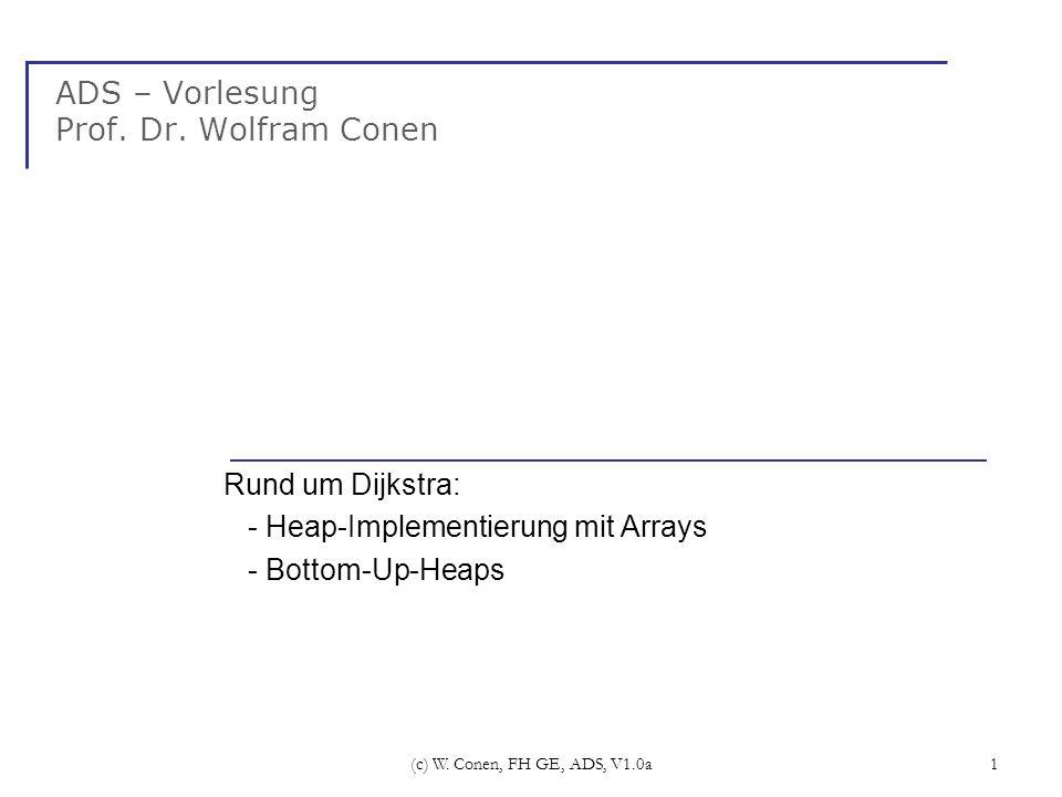 ADS – Vorlesung Prof. Dr. Wolfram Conen