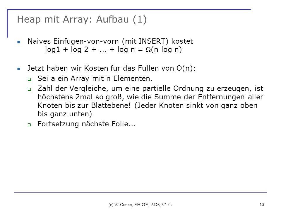 Heap mit Array: Aufbau (1)