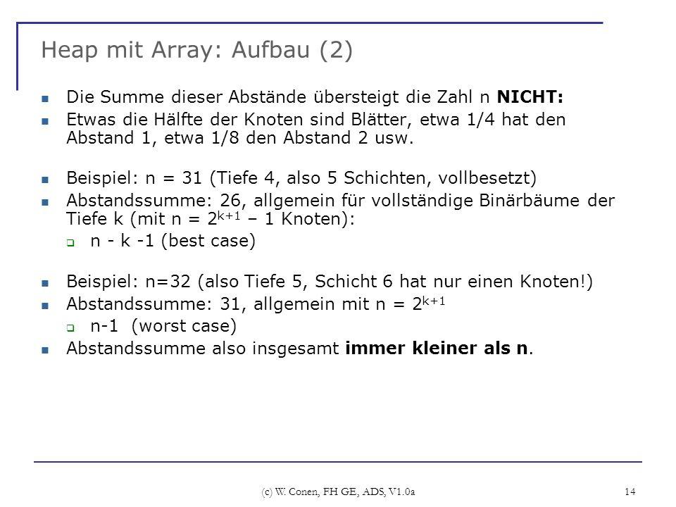 Heap mit Array: Aufbau (2)